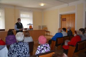 В Рудне прошел информационный час с членами совета Руднянской общественной организации Всероссийского общества инвалидов